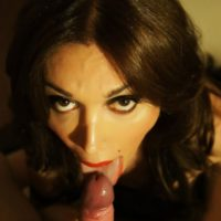 Brunette Mexican shemale Mariana Cordoba giving and taking oral sex with boyfriend