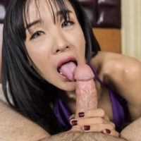 Busty ladyboy Cara gives a blowjob before jerking off while doing bareback anal with a man in POV mode