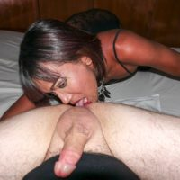 Skinny Asian ladyboy Nutty showers after an ass licking and bareback anal session