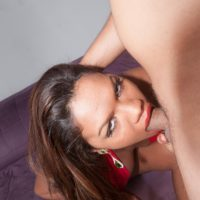 Brazilian shemale Mara Lopes has her asshole toyed and fucked after giving a blowjob